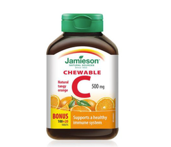 Jamieson Natural Tangy Orange Vitamin C (120 Chewable Tablets) - FROM CA... - $14.99