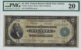 $2 1918 FRN Note Atlanta PMG 20 (VF) - $985.05