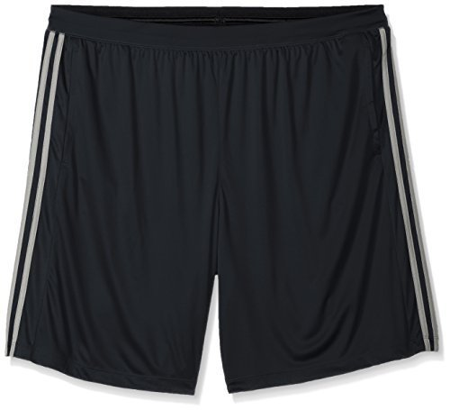adidas Men's Performance Franchise 3 Stripe Shorts, Dark Grey/Dark Grey/MGH Soli