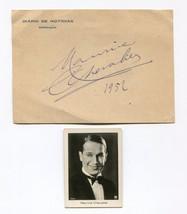 Original 1952 Maurice Chevalier Autograph and Photograph Diario Noticias... - $233.75