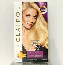 Clairol Age Defy Extra Light Blonde # 10 Haircoloring Kit 100% Gray Coverage - $9.90