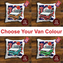 VW T6 campervan, Cushion Cover, T6 Cushion, Union Jack, Mod Target, Poppy, - $9.01+