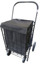 Folding Shopping Cart Jumbo Grocery Basket 4 Wheel Extra Large Laundry T... - $49.28
