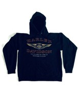 Harley Davidson Men's Medium Pullover Hooded Sweatshirt Cotton Graphic P... - $28.04
