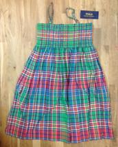 Ralph Lauren Girls' Sleeveless Plaid Madras Smocked Dress, Green, Size 12, $59.5 - $28.70