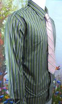 GAP Fitted Premium -Olive Green-Purple -STRIPED-BUTTON-DOWN-SHIRT-S-2XL image 6