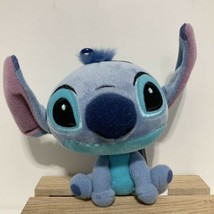 "Disney Parks Stitch Big Head Plush Doll Keychain Bag Zipper Charm 5"" X 4"" NEW - $20.57"