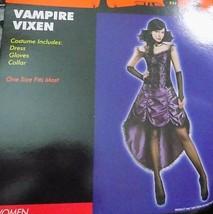 NEW Womens Vampire Vixen Purple Hoop Hi Lo Dress Costume One Size (S M) FREESHIP - $19.99
