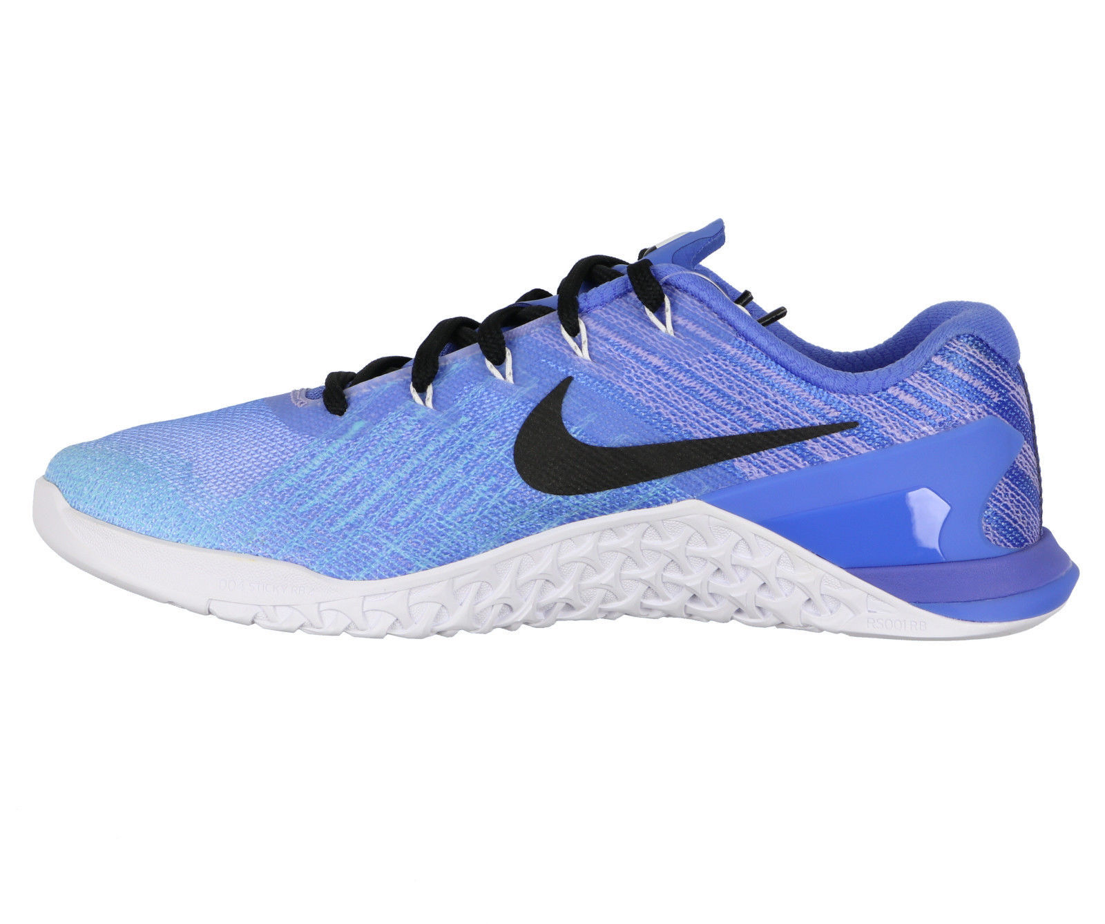 32ac01a654b49 NIKE Women s Metcon 3 Fade Training Shoes sz 8 Gradient Blue White TR
