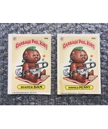 1986 Topps Garbage Pail Kids Original Series Lot: Diaper Dan & Pinned Penny - $3.92