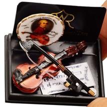 Mozart Violin Set 1.728/8 Reutter Porcelain Plate Music DOLLHOUSE Miniature - $27.21