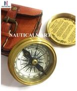 NauticalMart Brass Compass Marine Pocket Compass Engraved Robert Frost P... - $29.00