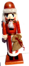 "Pier 1 Imports 15"" Wood Nutcracker - Old World Santa with Gifts - $29.95"