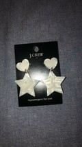 J.Crew Factory Tortoise Heart And Star Drop Earrings New - $18.00