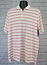 Men's RLX Ralph Lauren Golf S/S Polo Shirt White/Orange Stripes Size Xtr... - $27.43