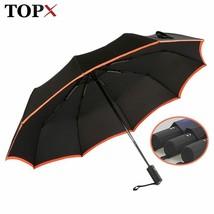 TopX® Creative Edge 3 Folding Umbrella Rain Women Big Windproof Waterproof - $28.68