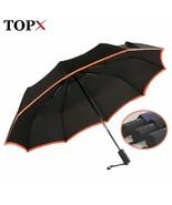 TopX® Creative Edge 3 Folding Umbrella Rain Women Big Windproof Waterproof - $32.93