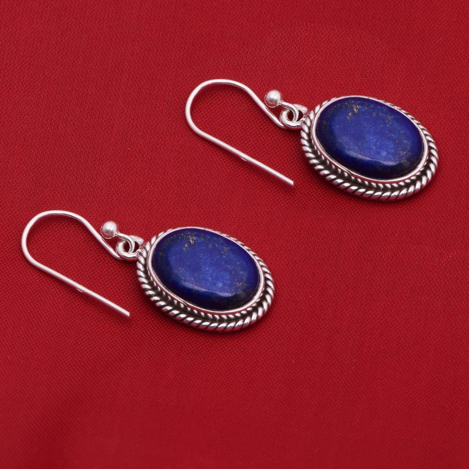 Lapis Lazuli Gemstone 925 Sterling Silver Earring Shine Jewelry SHER0791