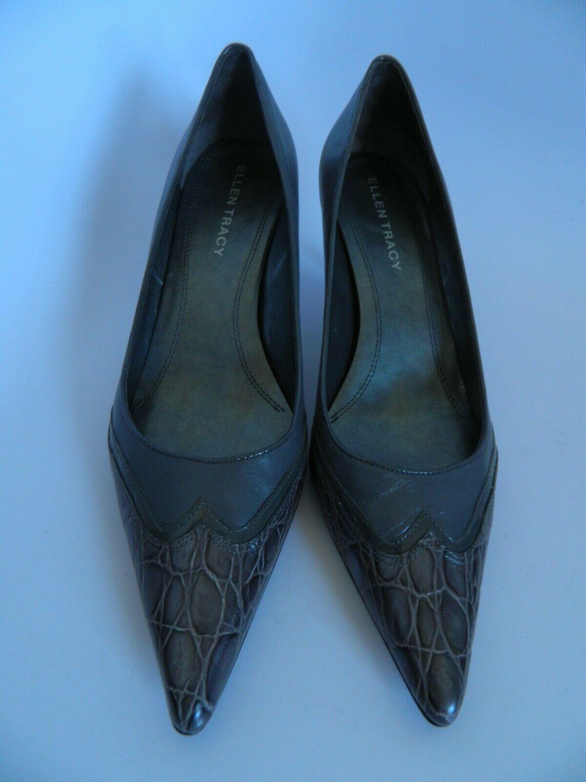 Ellen Tracy Gray w\Pattern Pumps Size 9.5M - $28.99