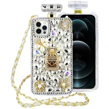 Bling Perfume Bottle iPhone Case 12/12 Pro 6.1 inches cluster yellow &... - $19.95