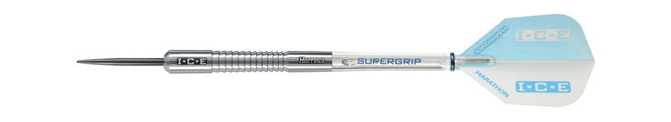Harrows WHITE ICE 90% Tungsten 22 Gram Steel Tip Darts 22gR