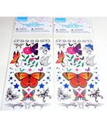 8 Temporary Tattoo Sheets Birthday Party Favors Butterfly Garden NEW - $28,24 MXN