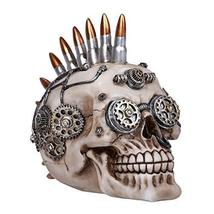 Pacific Giftware Steampunk Skull with Bullets Statue Collectible Home De... - $26.72