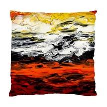 Pillow case Throw Pillow Cushion Case Abstract 17 orange white yellow by L.Dumas - $24.99+