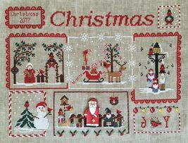 Cardinal Mystery Sampler Part 4 Snowman & Santa Claus cross stitch Mani di Donna - $7.20