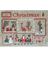 Cardinal Mystery Sampler Part 4 Snowman & Santa Claus cross stitch Mani ... - $7.20