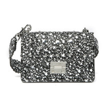 Rebecca Minkoff Black White Floral Leather Christy Perforated Crossbody Bag NWT - $172.76