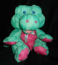 Vintage 1993 Puffalump Fisher Price Verde Caimán Peluche Plush Toy - $60.94
