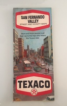 Vintage 1970 Texaco San Fernando Valley map