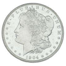 1904-O Argent Morgan Dollar Classé par NGC comme MS63 Dpl ! Superbe Finition image 3