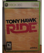 Tony Hawk: Ride  (Xbox 360, 2009) GAME DISC WITH CASE AND BOOKLET ONLY - $10.00
