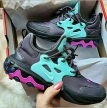 Nike React Presto - BQ4002-011 - Black / Purple / Sky Blue - Yth 7 = Women's 8.5 - $93.06
