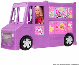 Barbie Food Truck Multiple Play Areas 30+ Play Pieces Accessories Playse... - $71.36