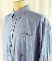 Tommy Hilfiger Long Sleeve Shirt Check Plaid Light Blue White Mens Size XL  - $19.40