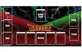 """Teneseshito Pokemon card rubber play mat """"Dark of the battle stage"""" - $35.38"""
