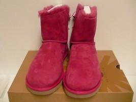 Damen Ugg Stiefel Mini Bailey Schleife Jakobsmuschel Schafsfell Rosa Größe 7 US - $178.75