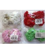 "LOT 144 Silk / Satin like 1/4"" RIBBON ROSES Wire Stem Pick Colors Weddin... - $3.88"