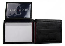 New Tommy Hilfiger Men's Leather Credit Card ID Passcase Wallet Black 31TL22X060 image 4