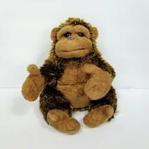 """Folkmanis FolkTails Full Body Hand Puppet Gorilla 10"""" Plush Brown Teache... - $23.75"""