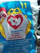 Waddle The Penguin #11 McDonald's Ty Teenie Beanie Baby 1998 Happy Meal NIP - $9.99