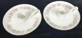 Lot of 2 Vintage Dansico Fine China Japan Teahouse Rose Candlesticks Exc... - $18.99