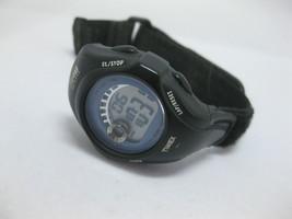 Timex 1440 521 L0 Wrist Watch Broken Band WORKS Black Gray Blue - $19.79