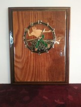Vintage Bowling Clock Plaque - $32.71