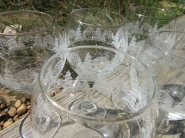 Arby's Winter Goblets, Set of 5 Vintage 1980s Wine Glasses image 4