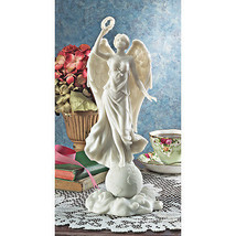 "11"" Honor of Victory After WWI Angel Wreath of Peace Bonded Marble Statue - $52.42"