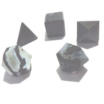 Zebra Jasper Stones Sacred Geometry Sets Gemstone Platonic Solid Top Gra... - $8.00